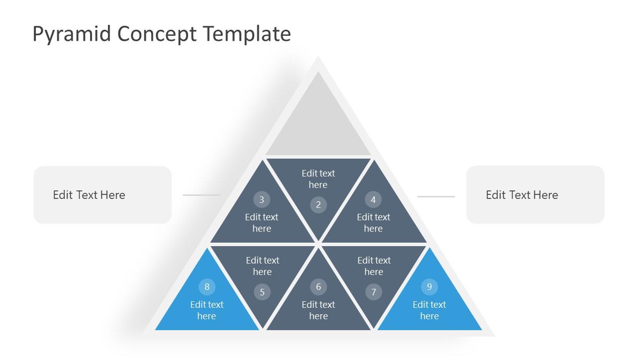 PowerPoint Pyramid 3 Steps Diagram