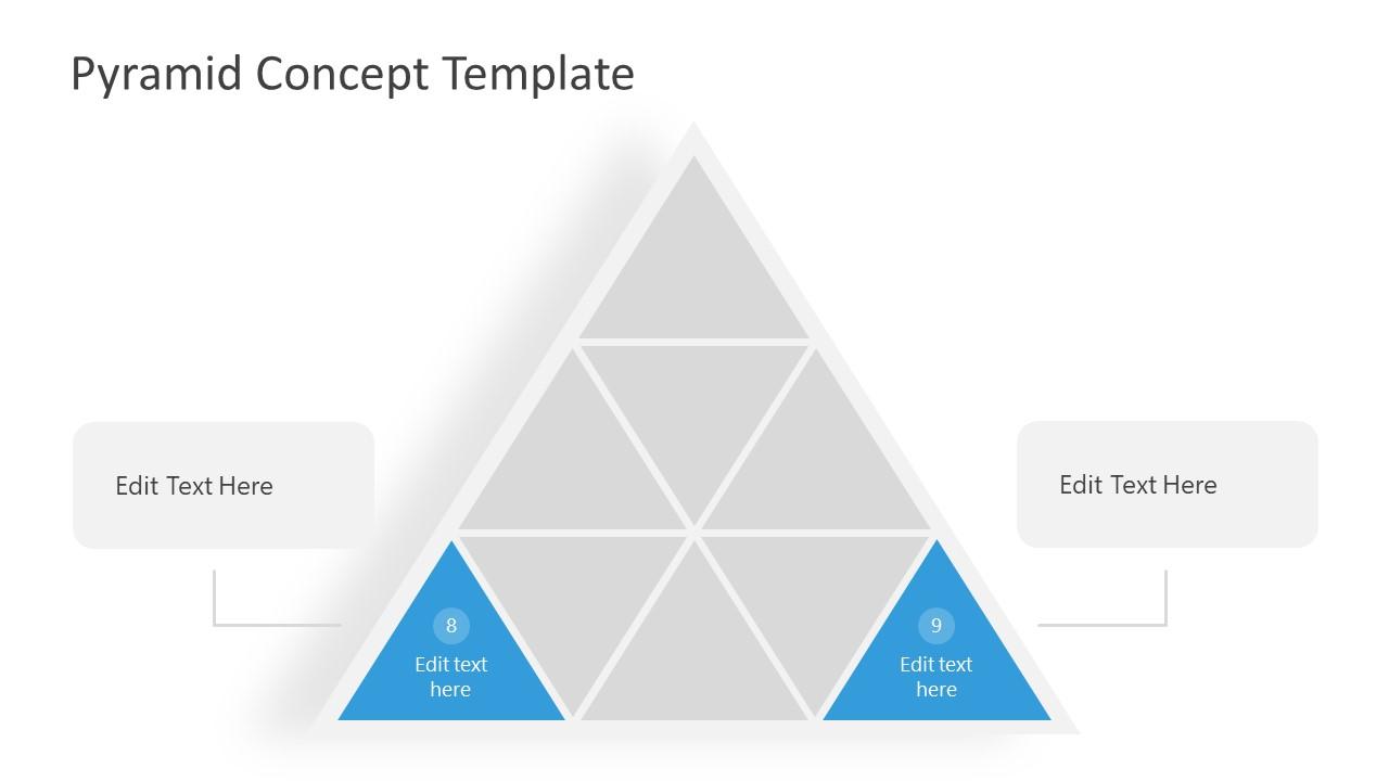 Inner Triangles PowerPoint Segmented Pyramid