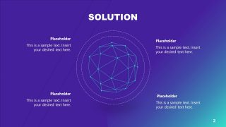 Network Global Diagram Artificial Intelligence PPT