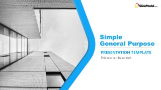 Cover Slide of Cutout General Purpose PowerPoint
