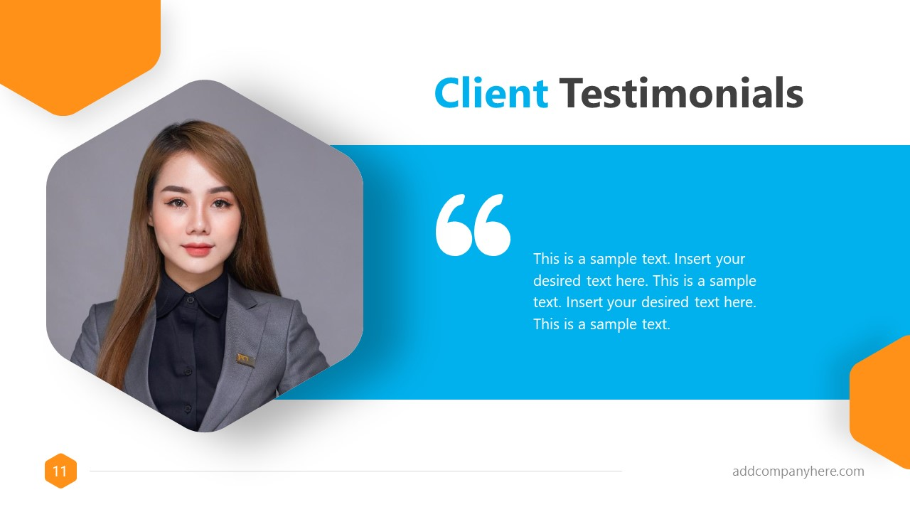 Business Proposal Free Template Client Testimonial