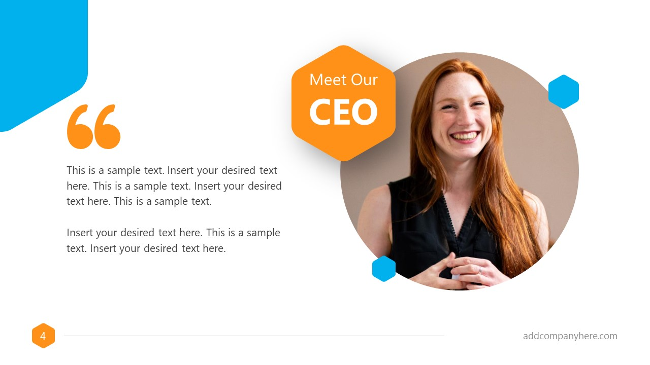 Business Proposal Free Template CEO Message