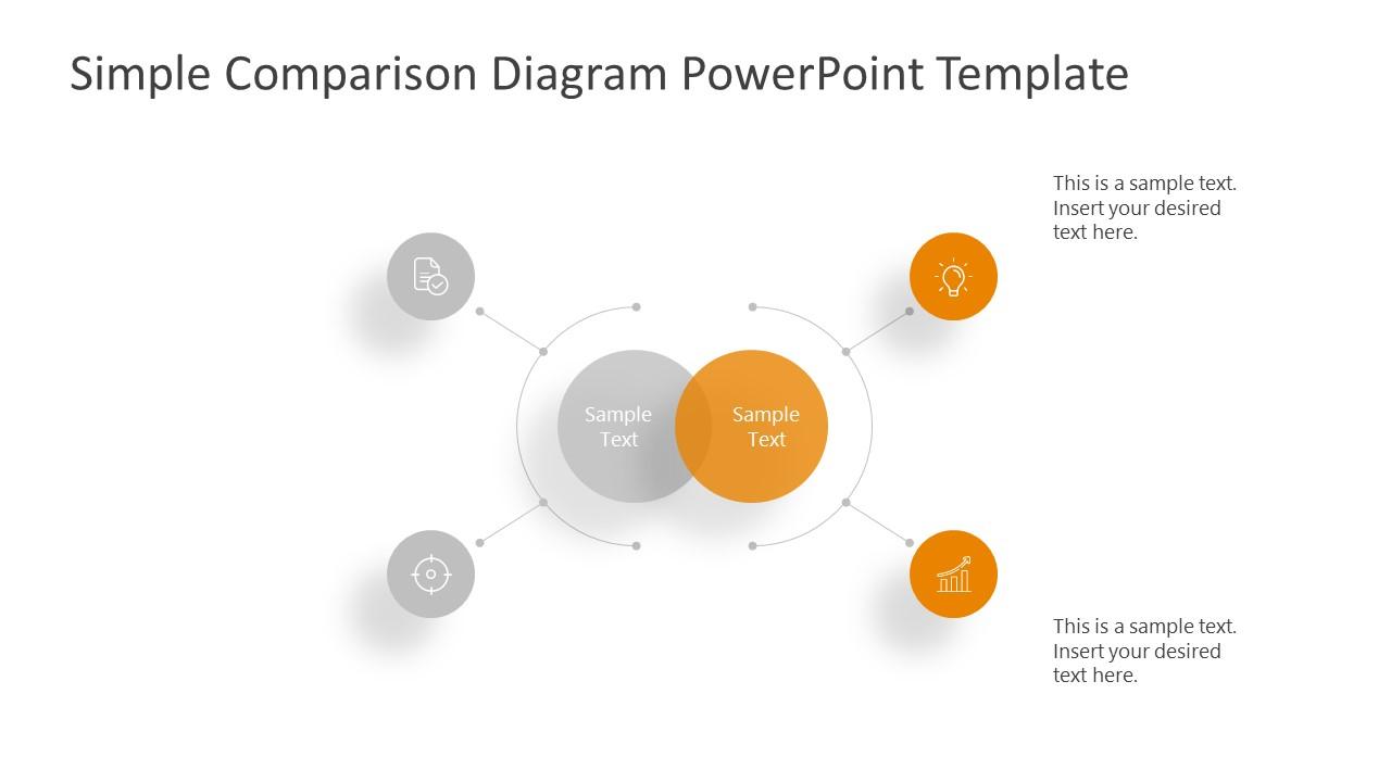 PowerPoint Comparison 4 Segments Template