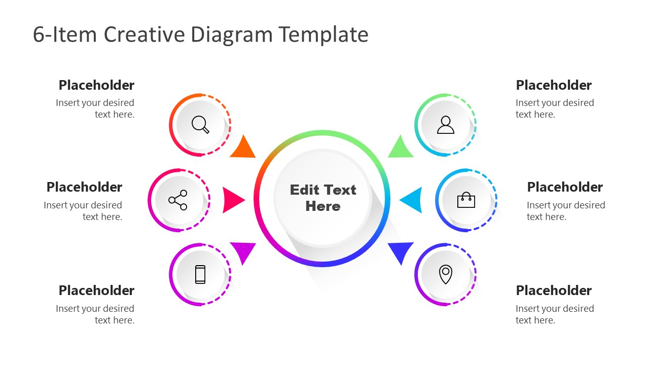 Colorful Diagram 6 Items Template