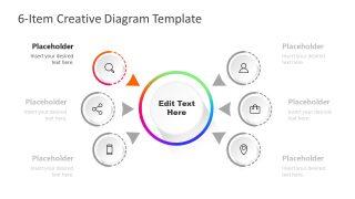 Step 1 PowerPoint Diagram of Gradient Colors