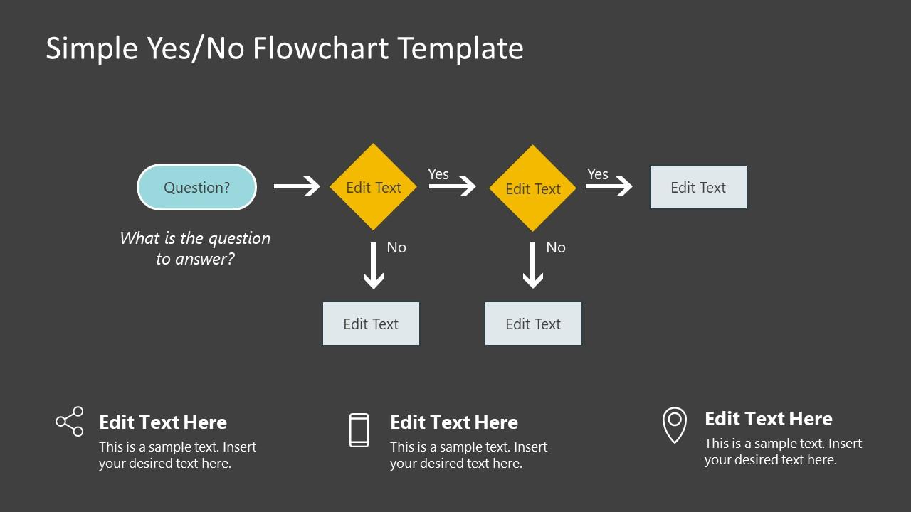 Flat Flow Process Diagram PowerPoint