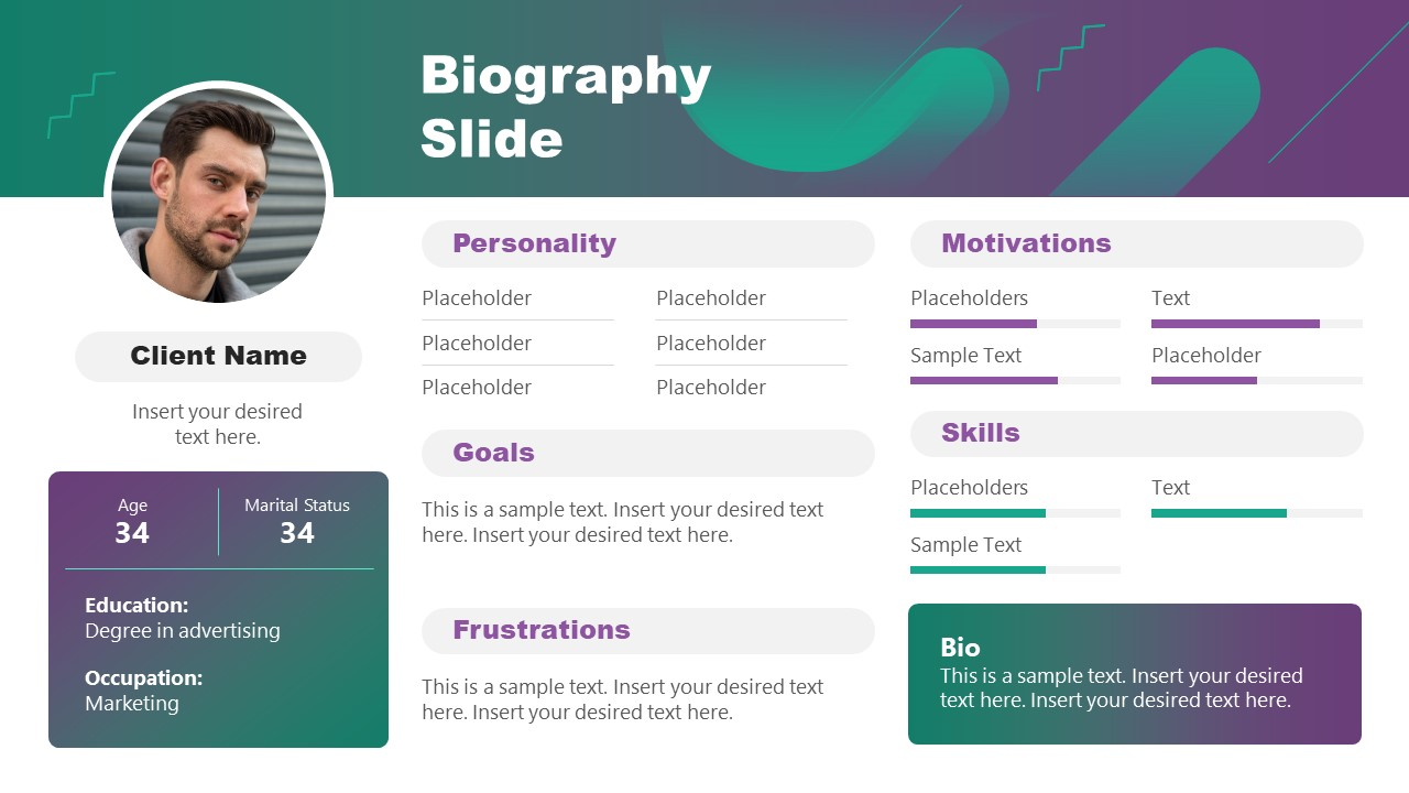 PPT Biography Template for Client Profile