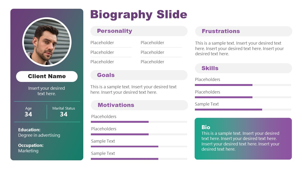 Free Slides of Biography PowerPoint