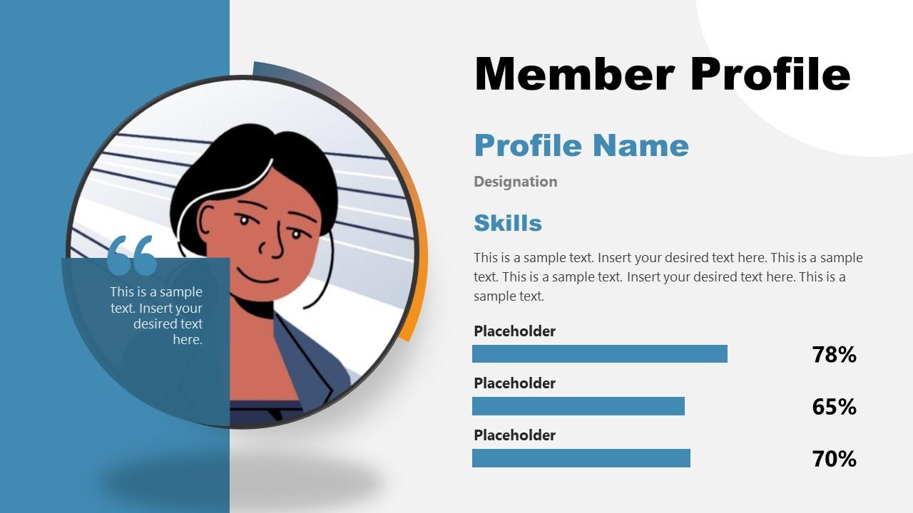 Editable User Profile Template PowerPoint