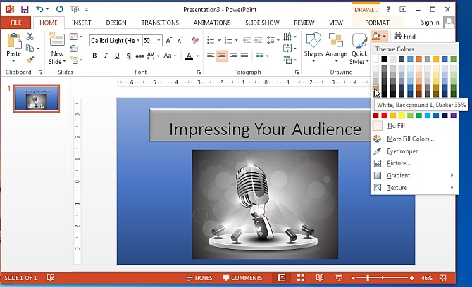 Formatting tools in PowerPoint