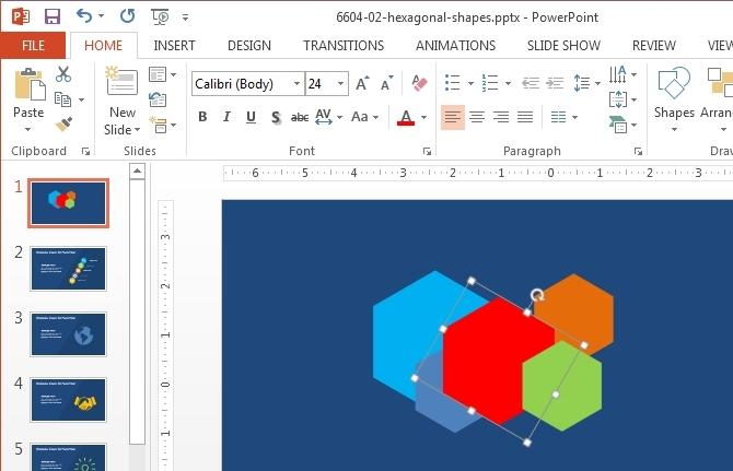 Hexagon sent backward