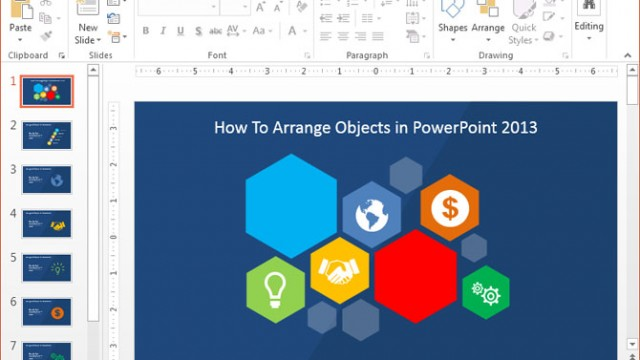 How To Arrange Objects in PowerPoint 2013