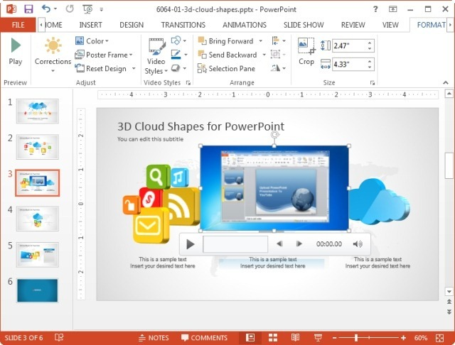 how to put a video in powerpoint online