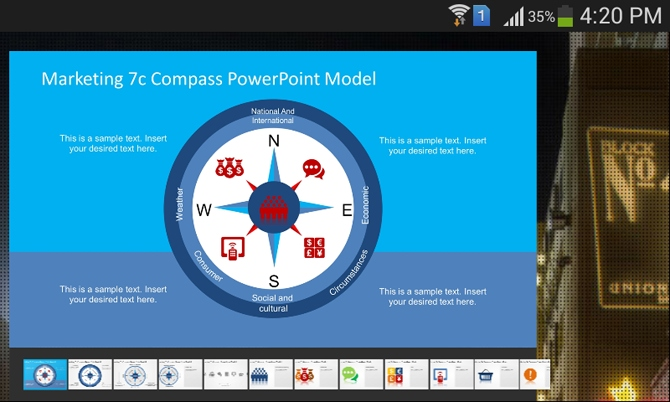 Marketing 7c compass PowerPoint template