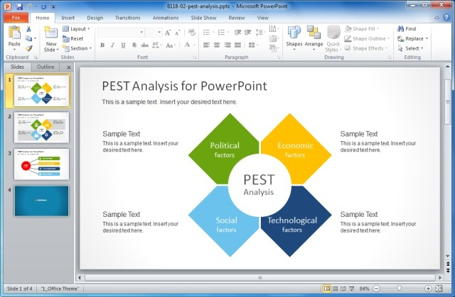 PEST Analysis Diagrams Template for PowerPoint