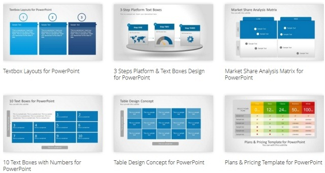 PowerPoint Text And Table Templates