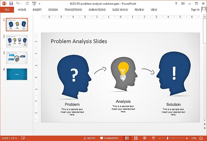 Problem analysis PowerPoint template