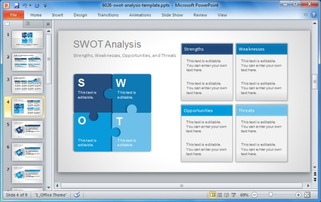 SWOT Analysis Templates for PowerPoint