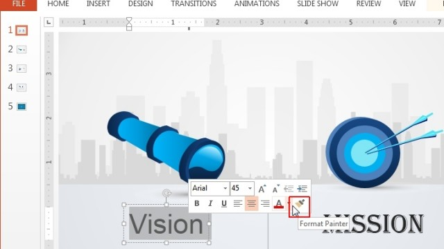 How To Copy Content Formatting in PowerPoint 2013 With Format Painter
