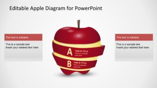 PPT Diagram Apple 2 Steps