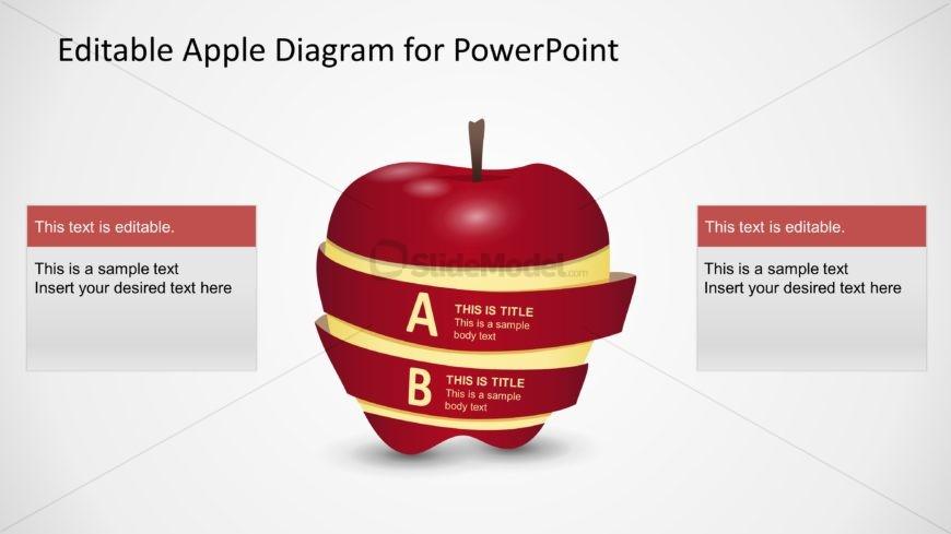 PPT Diagram Apple 2 Steps