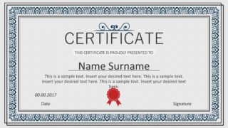 Winner Certificate PowerPoint Templates