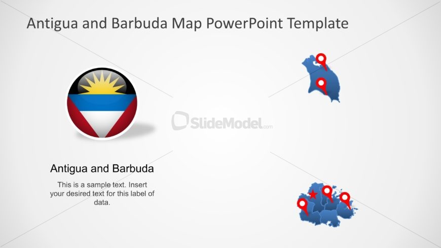 Antigua and Barbuda PPT Map