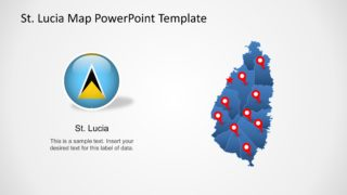 Saint Lucia PowerPoint Map Templates