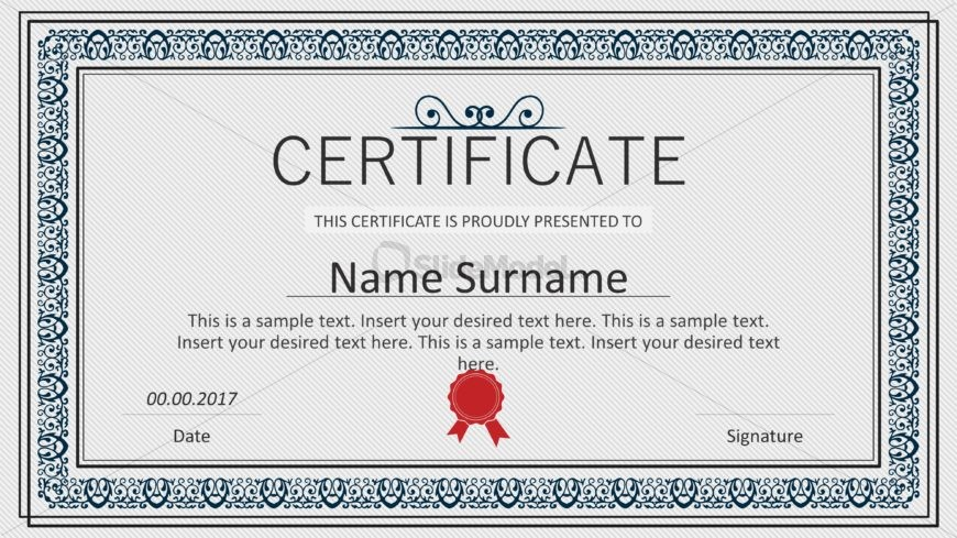 Winner Certificate Template Design