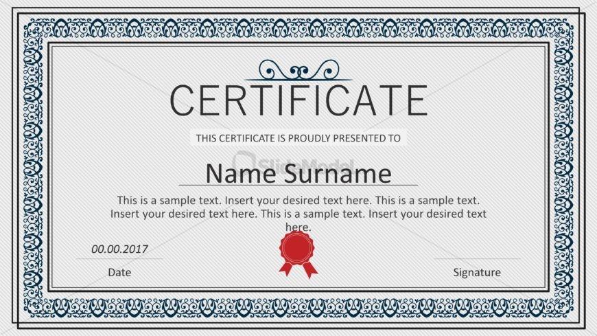 Winner Certificate Layout PowerPoint - SlideModel