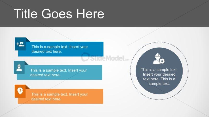 Slide of Infographics Bullet List