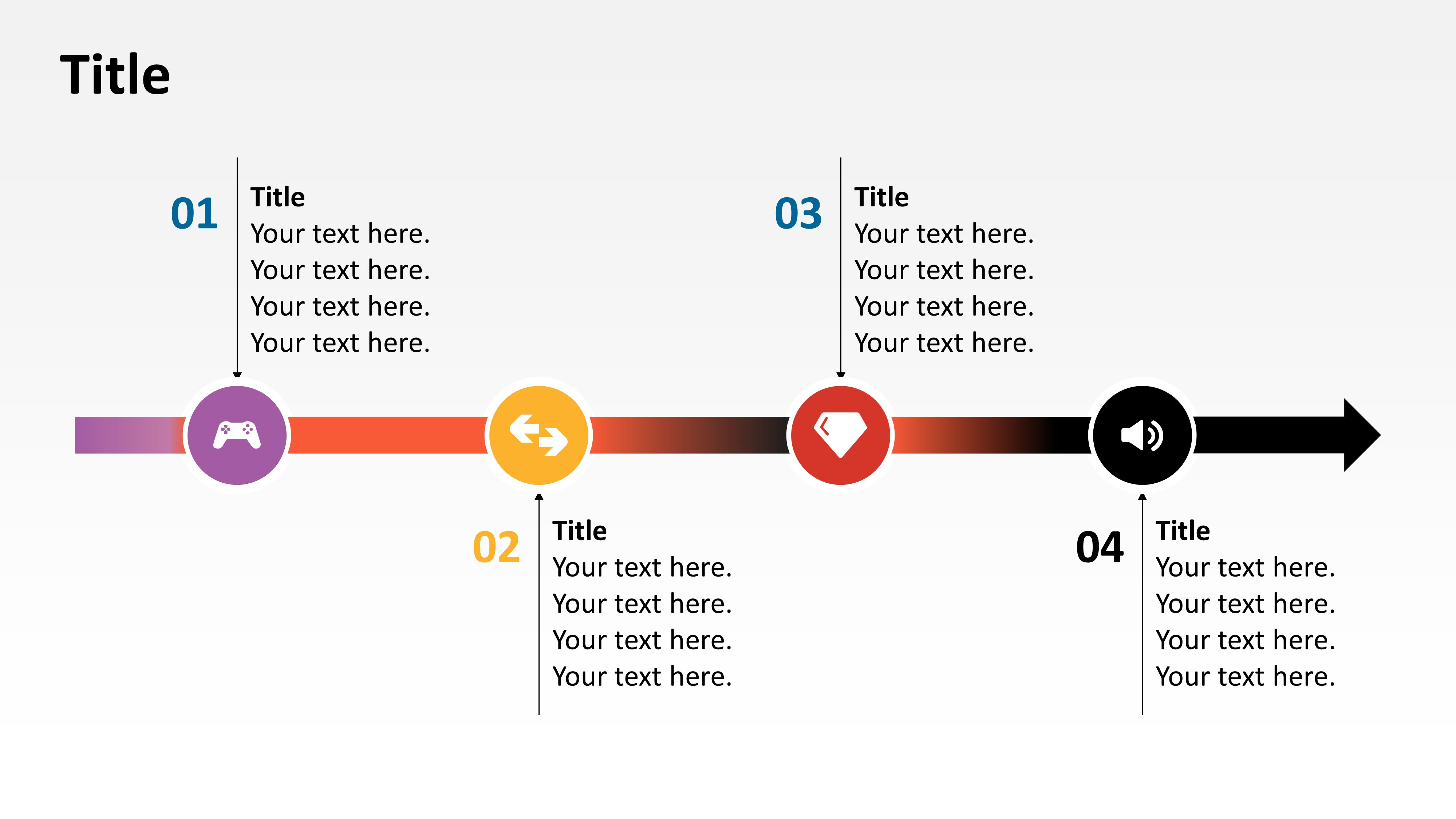 Horizontal Timeline Template in PowerPoint