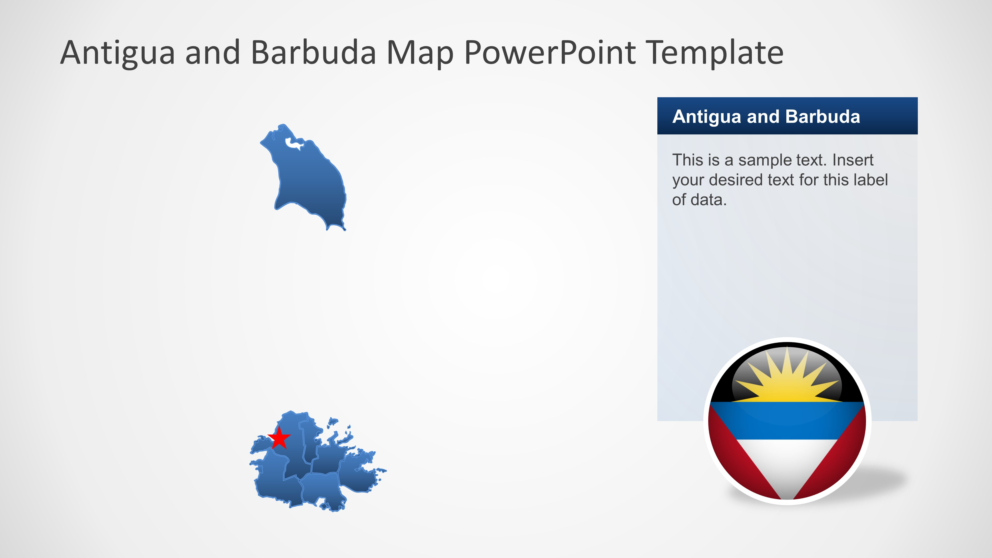 Political Outline PowerPoint Map of Antigua and Barbuda