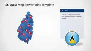 Saint Lucia PPT Map with States