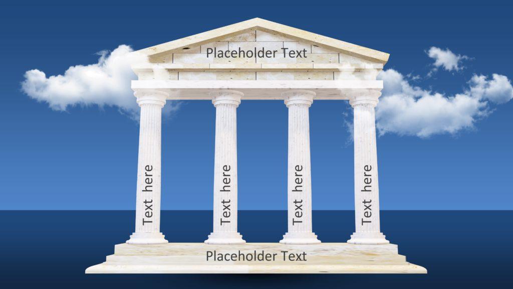 3d Pillar Design Greek Architecture Ppt