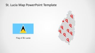 PowerPoint Map of Saint Lucia