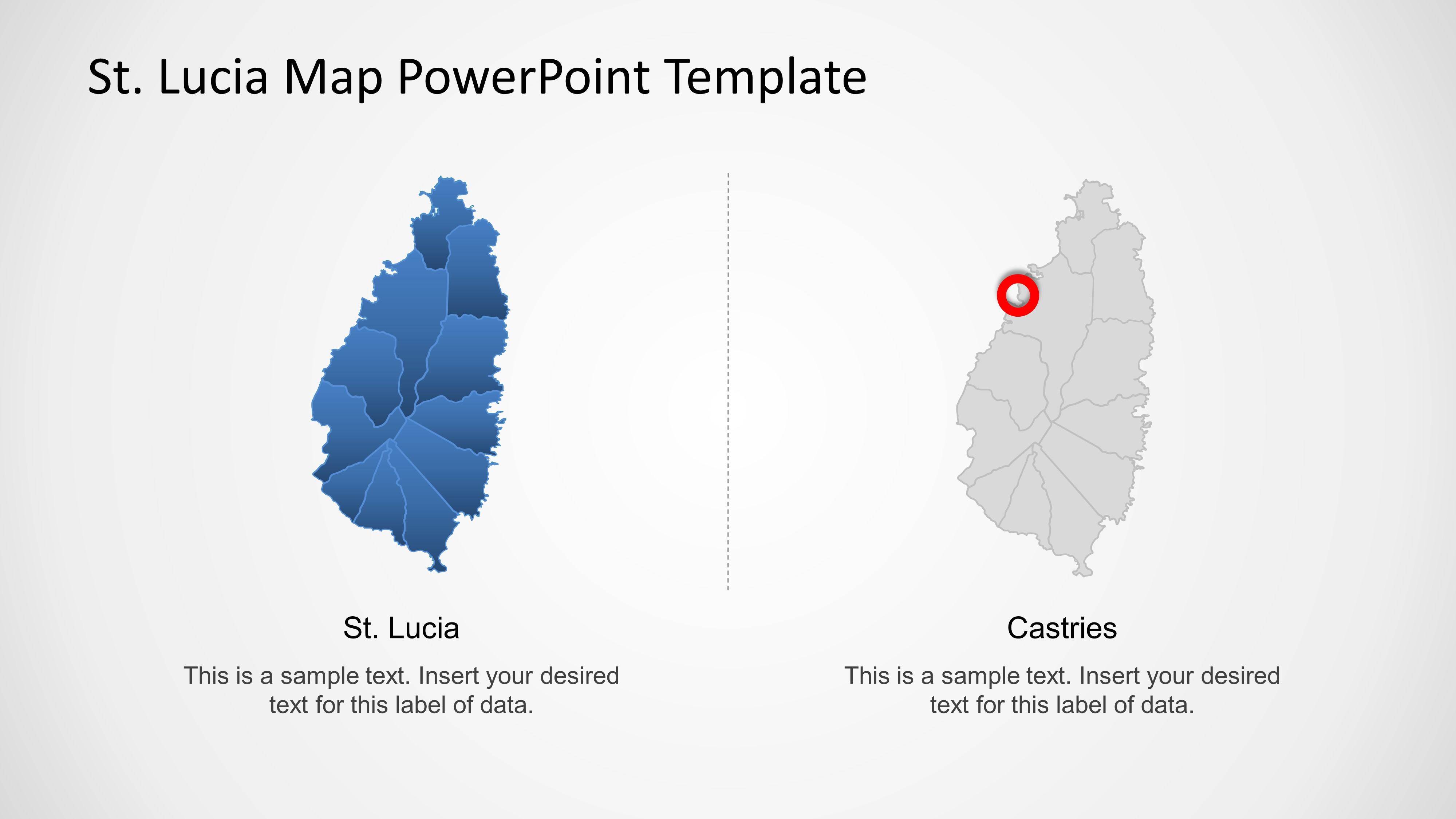 St. Lucia PowerPoint Map