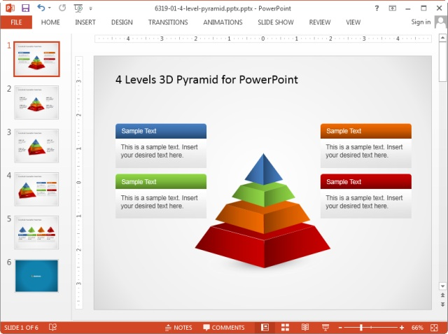 Standard slide size in PowerPoint 2013