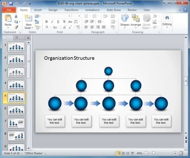 Template for Making Basic or Bureaucratic Organizational Charts