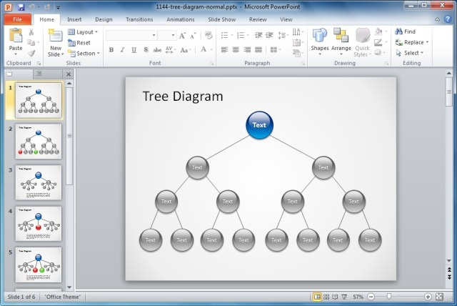 Tree Diagram PowerPoint Template