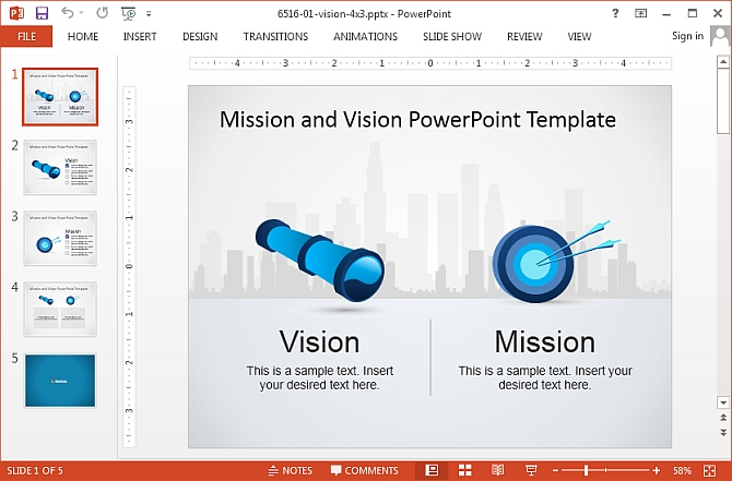 How to copy content formatting in powerpoint 2013 with for Vision statement template free