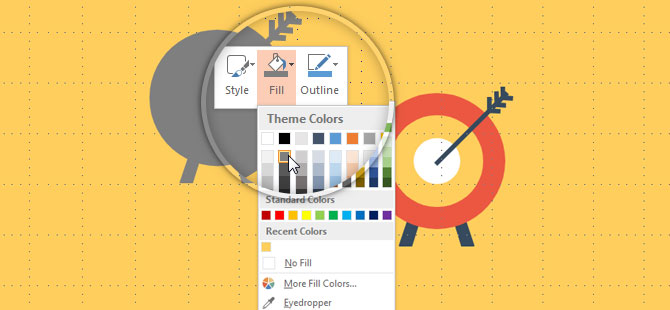 PowerPoint Shape Color Fill Selection