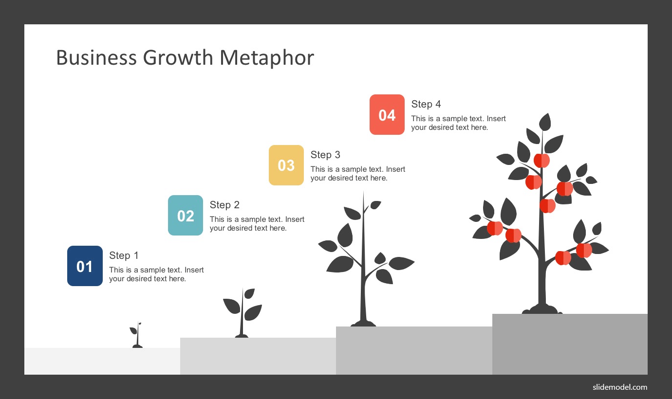 Business growth metaphor illustration