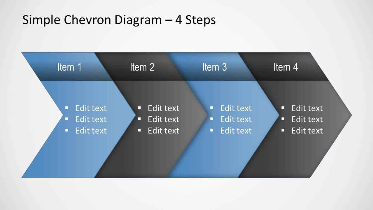 simple chevron diagram for powerpoint