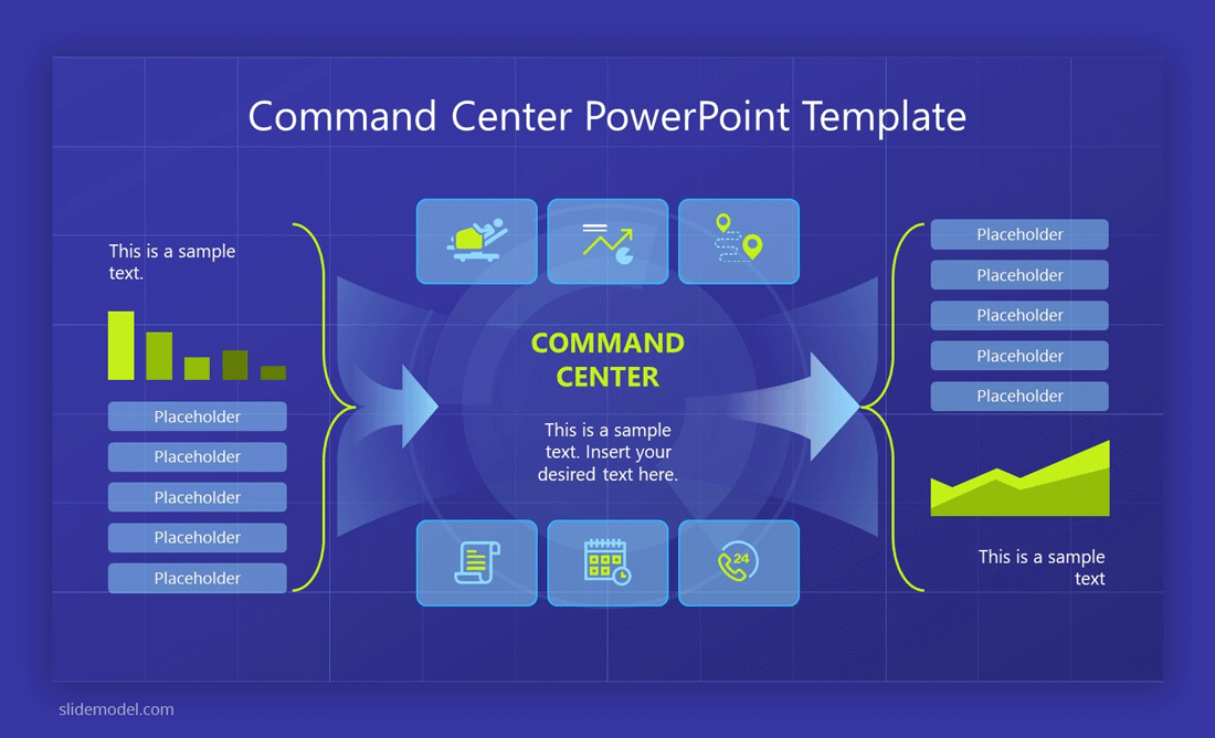 Command Center Dashboard PowerPoint template