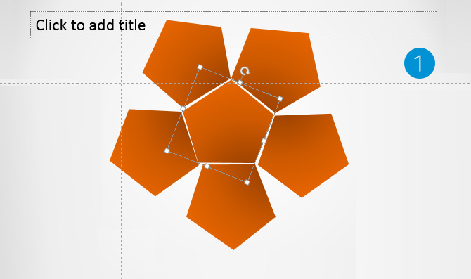Pentagonal Shape created with PowerPoint Pentagons