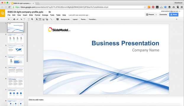 How To Edit PowerPoint Templates In Google Slides SlideModel - Best of company profile ppt scheme