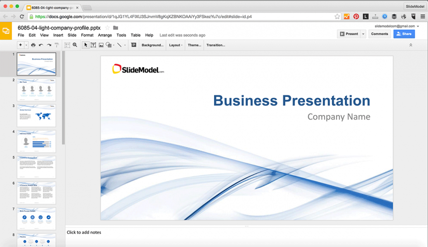 edit powerpoint presentations in google slides slidemodel