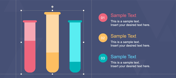 Test Tubes in PowerPoint
