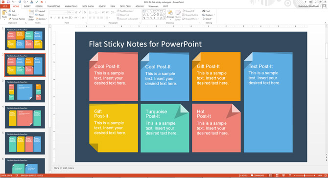 how to add custom sticky notes to powerpoint presentations slidemodel